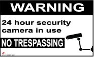 אזהרה מצלמות אבטחה אנגלית 60×40 6934